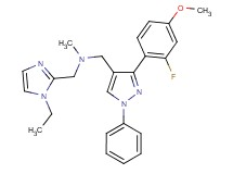1-(1-ethyl-1H-imidazol-2-yl)-N-{[3-(2-fluoro-4-methoxyphenyl)-1-phenyl-1H-pyrazol-4-yl]methyl}-N-methylmethanamine
