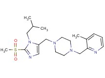 1-{[1-isobutyl-2-(methylsulfonyl)-1H-imidazol-5-yl]methyl}-4-[(3-methyl-2-pyridinyl)methyl]piperazine