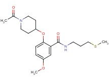 2-[(1-acetyl-4-piperidinyl)oxy]-5-methoxy-N-[3-(methylthio)propyl]benzamide