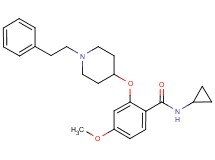 N-cyclopropyl-4-methoxy-2-{[1-(2-phenylethyl)-4-piperidinyl]oxy}benzamide