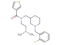 N-[2-(dimethylamino)ethyl]-N-{[1-(2-fluorobenzyl)-3-piperidinyl]methyl}-3-thiophenecarboxamide