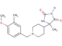 5-[1-(4-methoxy-3-methylbenzyl)-4-piperidinyl]-5-methyl-2,4-imidazolidinedione
