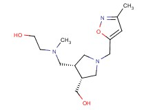 2-[({(3R*,4R*)-4-(hydroxymethyl)-1-[(3-methylisoxazol-5-yl)methyl]pyrrolidin-3-yl}methyl)(methyl)amino]ethanol
