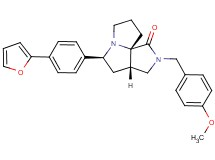 (3aS*,5S*,9aS*)-5-[4-(2-furyl)phenyl]-2-(4-methoxybenzyl)hexahydro-7H-pyrrolo[3,4-g]pyrrolizin-1(2H)-one