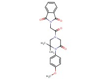 2-{2-[4-(4-methoxyphenyl)-3,3-dimethyl-5-oxo-1-piperazinyl]-2-oxoethyl}-1H-isoindole-1,3(2H)-dione