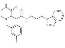 2-[1-(3-fluorobenzyl)-3-oxo-2-piperazinyl]-N-[3-(1H-indazol-1-yl)propyl]acetamide