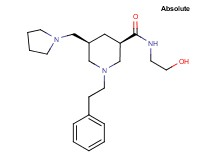 (3R,5R)-N-(2-hydroxyethyl)-1-(2-phenylethyl)-5-(1-pyrrolidinylmethyl)-3-piperidinecarboxamide