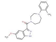 5-methoxy-3-{[4-(2-methylphenyl)-1,4-diazepan-1-yl]carbonyl}-1H-indazole