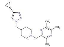 2-({4-[(4-cyclopropyl-1H-1,2,3-triazol-1-yl)methyl]-1-piperidinyl}methyl)-3,5,6-trimethylpyrazine trifluoroacetate