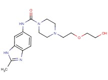4-[2-(2-hydroxyethoxy)ethyl]-N-(2-methyl-1H-benzimidazol-6-yl)piperazine-1-carboxamide