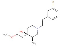 (3R*,4R*)-1-[2-(3-fluorophenyl)ethyl]-4-(2-methoxyethyl)-3-methylpiperidin-4-ol