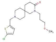 9-[(5-chloro-2-thienyl)methyl]-2-(3-methoxypropyl)-2,9-diazaspiro[5.5]undecan-3-one