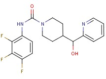 4-[hydroxy(pyridin-2-yl)methyl]-N-(2,3,4-trifluorophenyl)piperidine-1-carboxamide