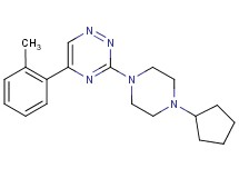 3-(4-cyclopentyl-1-piperazinyl)-5-(2-methylphenyl)-1,2,4-triazine