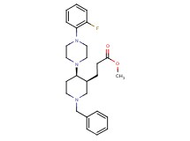 methyl 3-{(3S*,4R*)-1-benzyl-4-[4-(2-fluorophenyl)piperazin-1-yl]piperidin-3-yl}propanoate