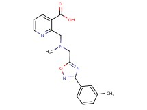 2-[(methyl{[3-(3-methylphenyl)-1,2,4-oxadiazol-5-yl]methyl}amino)methyl]nicotinic acid