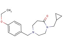 4-(cyclopropylmethyl)-1-(4-ethoxybenzyl)-1,4-diazepan-5-one