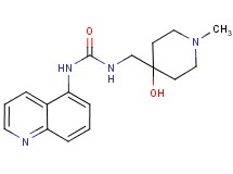 N-[(4-hydroxy-1-methylpiperidin-4-yl)methyl]-N'-quinolin-5-ylurea