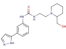 N-{2-[2-(hydroxymethyl)piperidin-1-yl]ethyl}-N'-[3-(1H-pyrazol-5-yl)phenyl]urea