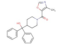 {1-[(4-methyl-1,3-oxazol-5-yl)carbonyl]-4-piperidinyl}(diphenyl)methanol