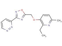 3-(5-{[(2-ethyl-6-methyl-3-pyridinyl)oxy]methyl}-1,2,4-oxadiazol-3-yl)pyridazine