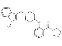 1-methyl-3-({4-[2-(1-pyrrolidinylcarbonyl)phenoxy]-1-piperidinyl}methyl)-1H-indole