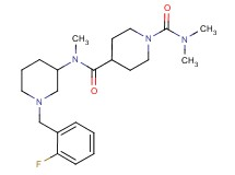 N~4~-[1-(2-fluorobenzyl)-3-piperidinyl]-N~1~,N~1~,N~4~-trimethyl-1,4-piperidinedicarboxamide