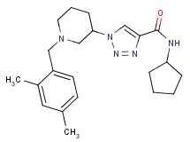 N-cyclopentyl-1-[1-(2,4-dimethylbenzyl)-3-piperidinyl]-1H-1,2,3-triazole-4-carboxamide