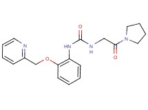 N-(2-oxo-2-pyrrolidin-1-ylethyl)-N'-[2-(pyridin-2-ylmethoxy)phenyl]urea (non-preferred name)