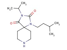 3-isopropyl-1-(3-methylbutyl)-1,3,8-triazaspiro[4.5]decane-2,4-dione