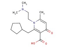 2-(cyclopentylmethyl)-1-[2-(dimethylamino)ethyl]-6-methyl-4-oxo-1,4-dihydropyridine-3-carboxylic acid
