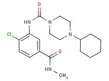 N-{2-chloro-5-[(methylamino)carbonyl]phenyl}-4-cyclohexylpiperazine-1-carboxamide