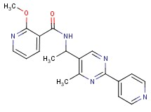 2-methoxy-N-{1-[4-methyl-2-(4-pyridinyl)-5-pyrimidinyl]ethyl}nicotinamide