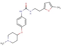 N-[2-(5-methyl-2-furyl)ethyl]-N'-{4-[(1-methylpiperidin-4-yl)oxy]phenyl}urea