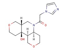 rac-(4aS,6aS,10aS,10bS)-5-(1H-imidazol-1-ylacetyl)decahydro-1H,10aH-dipyrano[4,3-b:4',3'-d]pyridin-10a-ol