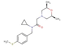 N-cyclopropyl-2-[(2R,6S)-2,6-dimethylmorpholin-4-yl]-N-[4-(methylthio)benzyl]acetamide