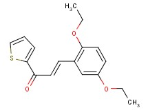 3-(2,5-diethoxyphenyl)-1-(2-thienyl)-2-propen-1-one