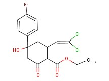 ethyl 4-(4-bromophenyl)-2-(2,2-dichlorovinyl)-4-hydroxy-6-oxocyclohexanecarboxylate
