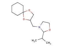 3-(1,4-dioxaspiro[4.5]dec-2-ylmethyl)-2-isopropyl-1,3-oxazolidine