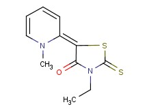 3-ethyl-5-(1-methyl-2(1H)-pyridinylidene)-2-thioxo-1,3-thiazolidin-4-one