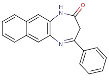 4-phenyl-1,3-dihydro-2H-naphtho[2,3-b][1,4]diazepin-2-one