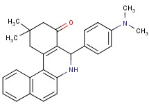 5-[4-(dimethylamino)phenyl]-2,2-dimethyl-2,3,5,6-tetrahydrobenzo[a]phenanthridin-4(1H)-one