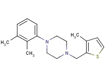 1-(2,3-dimethylphenyl)-4-[(3-methyl-2-thienyl)methyl]piperazine
