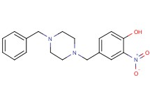 4-[(4-benzyl-1-piperazinyl)methyl]-2-nitrophenol