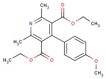 diethyl 4-(4-methoxyphenyl)-2,6-dimethyl-3,5-pyridinedicarboxylate