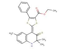 ethyl 5-phenyl-2-(2,2,6-trimethyl-3-thioxo-2,3-dihydro-4(1H)-quinolinylidene)-1,3-dithiole-4-carboxylate
