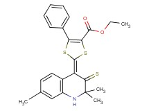 ethyl 5-phenyl-2-(2,2,7-trimethyl-3-thioxo-2,3-dihydro-4(1H)-quinolinylidene)-1,3-dithiole-4-carboxylate