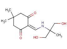 2-({[2-hydroxy-1-(hydroxymethyl)-1-methylethyl]amino}methylene)-5,5-dimethyl-1,3-cyclohexanedione
