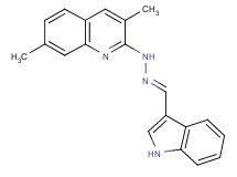 1H-indole-3-carbaldehyde (3,7-dimethyl-2-quinolinyl)hydrazone