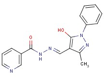 N'-[(5-hydroxy-3-methyl-1-phenyl-1H-pyrazol-4-yl)methylene]nicotinohydrazide